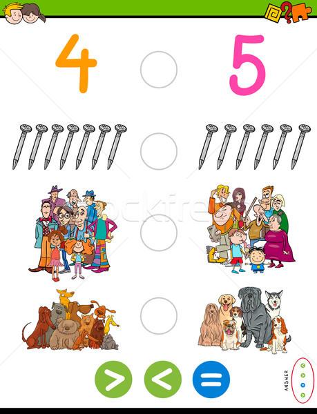 レス 等しい 数学 パズル ゲーム 漫画 ストックフォト © izakowski