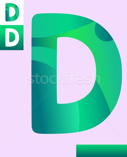 letter d graphic design illustration Stock photo © izakowski