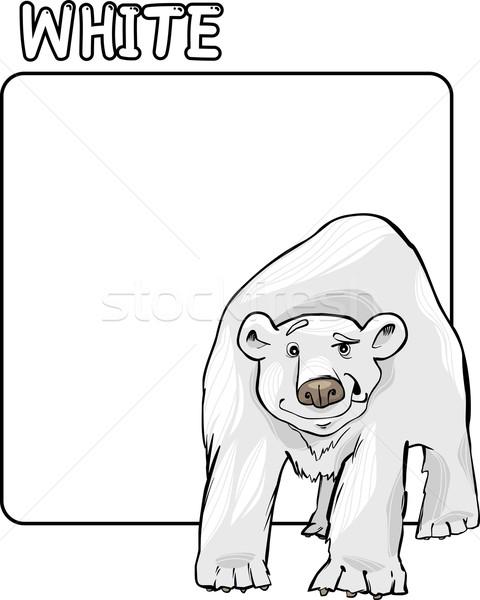 Color White and Polar Bear Cartoon Stock photo © izakowski
