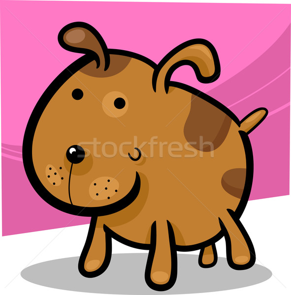 cartoon illustration of cute spotted dog Stock photo © izakowski