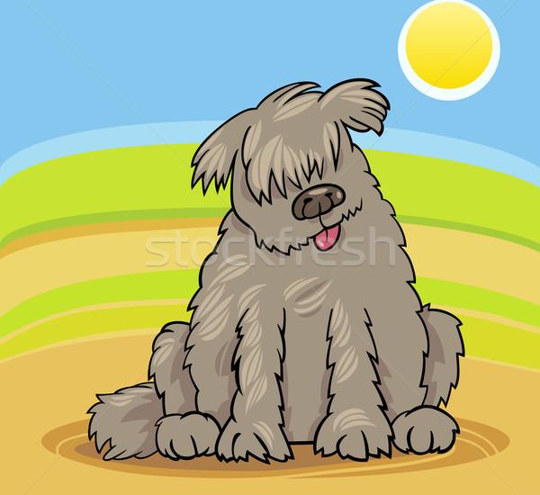Nowa fundlandia psa cartoon ilustracja funny Zdjęcia stock © izakowski