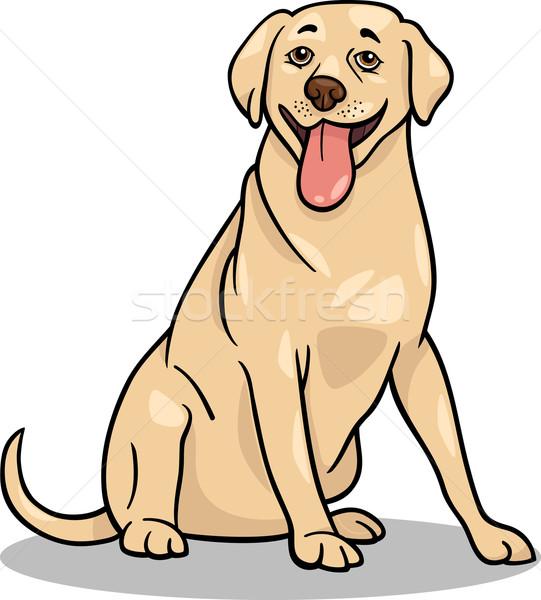 Labrador retriever psa cartoon ilustracja funny zwierząt Zdjęcia stock © izakowski