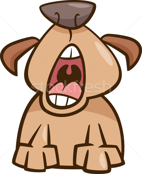 dog yawn cartoon illustration Stock photo © izakowski