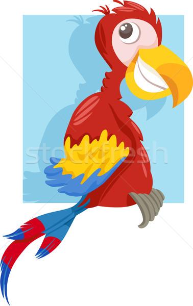 macaw parrot cartoon illustration Stock photo © izakowski