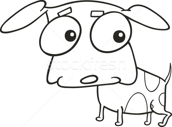 cute doggy for coloring book Stock photo © izakowski