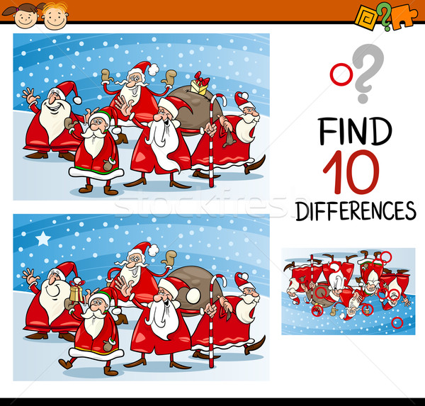 christmas differences task for kids Stock photo © izakowski