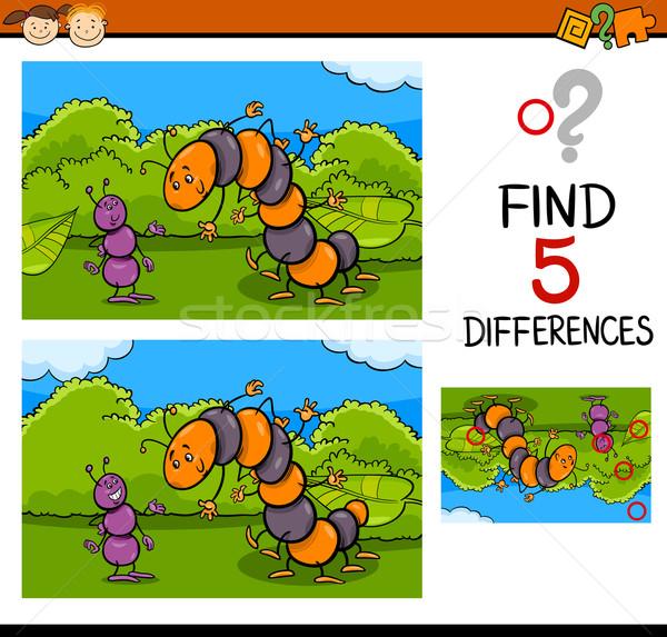 Zadanie różnice cartoon ilustracja Zdjęcia stock © izakowski