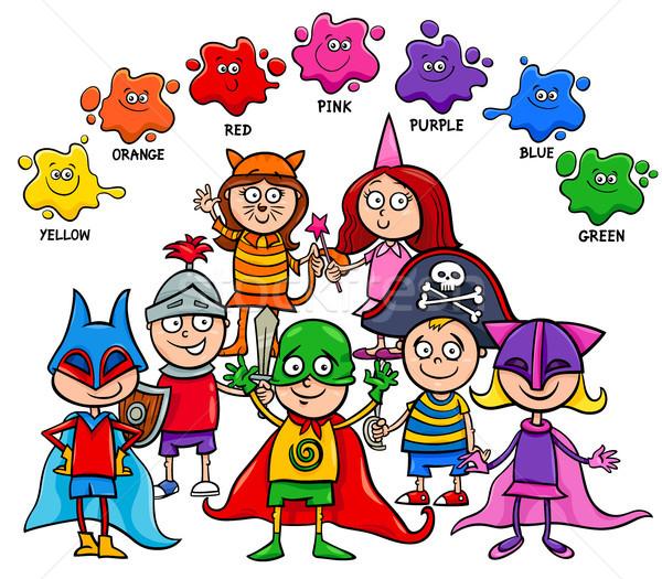 Básico colores educativo bordo ninos Cartoon Foto stock © izakowski