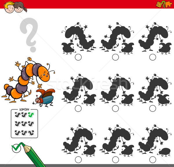 educational shadow game with insect characters Stock photo © izakowski