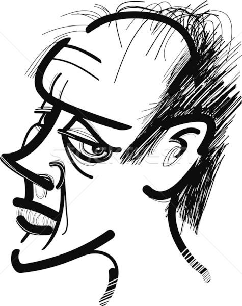 Karikatúra férfi rajz rajz illusztráció csúnya Stock fotó © izakowski