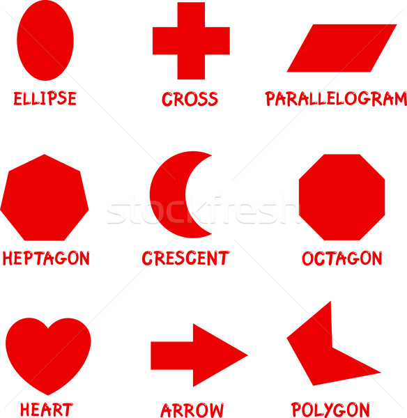 Basic Geometric Shapes with Captions Stock photo © izakowski