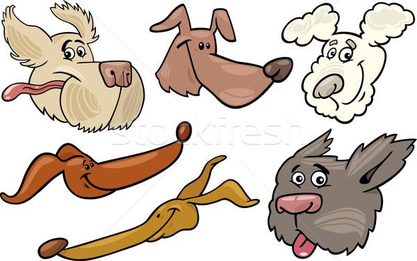 Rajz boldog kutyák szett illusztráció különböző Stock fotó © izakowski