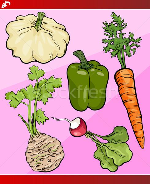 vegetables set cartoon illustration Stock photo © izakowski