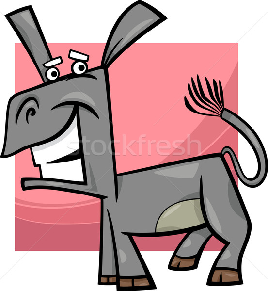 funny donkey cartoon illustration Stock photo © izakowski