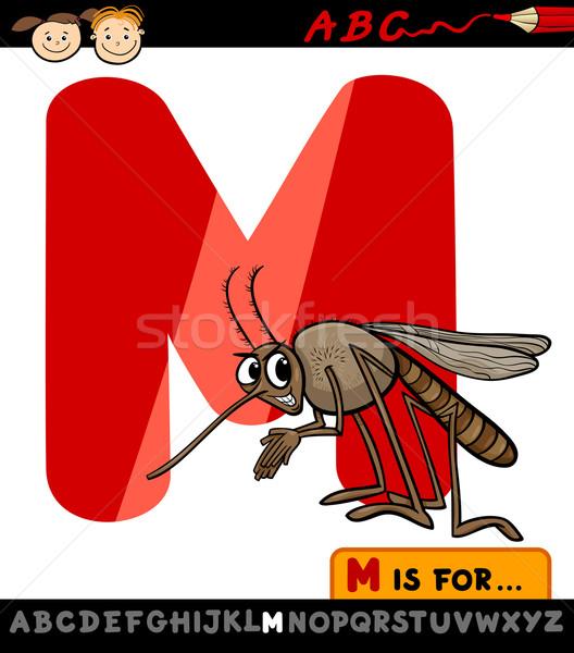Lettera m zanzara cartoon illustrazione alfabeto Foto d'archivio © izakowski