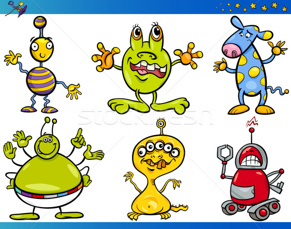 Cartoon Fantasy Characters Set Stock photo © izakowski