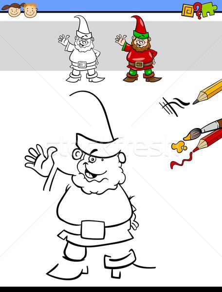 образовательный задача дошкольников Cartoon иллюстрация рисунок Сток-фото © izakowski