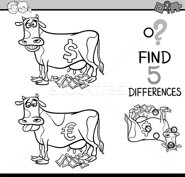 differences activity coloring page Stock photo © izakowski