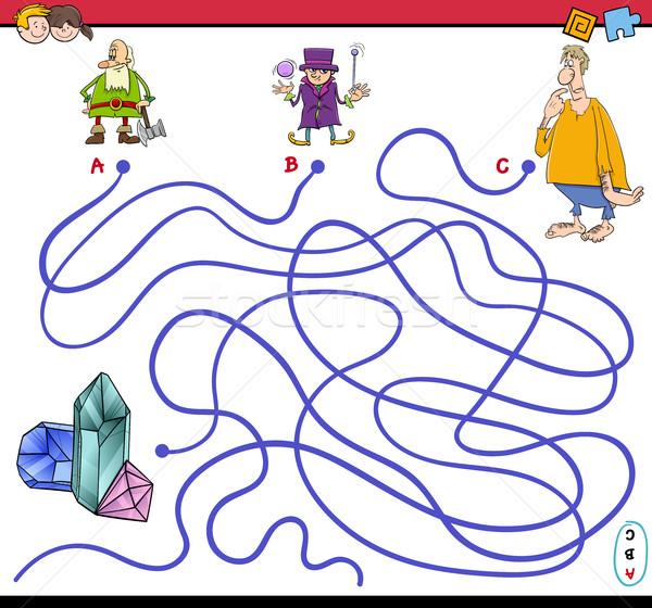 Foto stock: Laberinto · juego · fantasía · Cartoon · ilustración