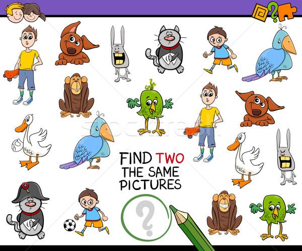 Bulmak aynı resimleri etkinlik karikatür örnek Stok fotoğraf © izakowski