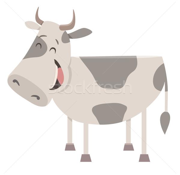 cow farm animal character Stock photo © izakowski
