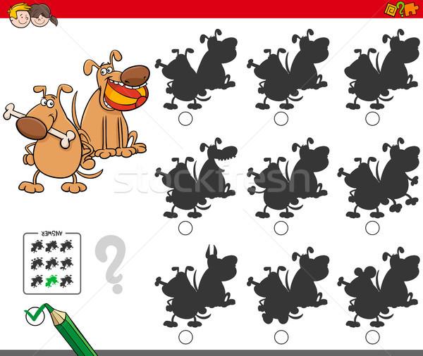 educational shadow game with dog characters Stock photo © izakowski