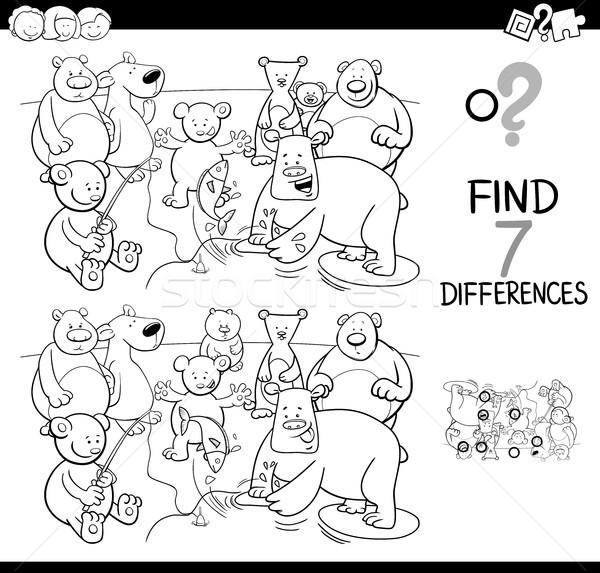 Stock fotó: Különbségek · játék · medve · betűk · szín · könyv