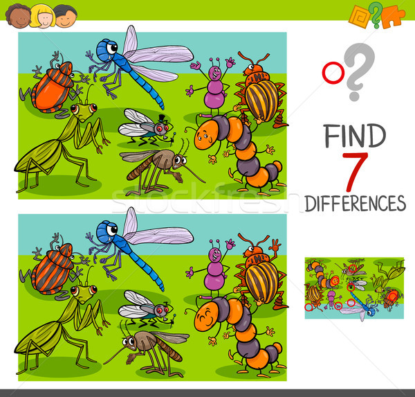 find differences with insects animal characters group Stock photo © izakowski