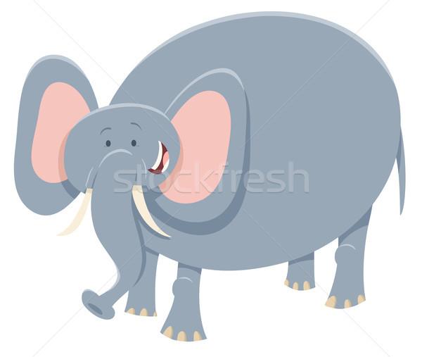 Karikatür fil safari hayvan karakter örnek Stok fotoğraf © izakowski