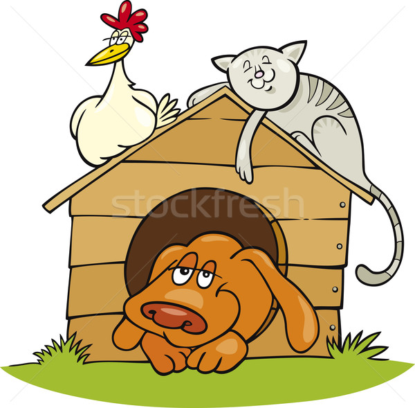 Stock photo: Happy farm animals