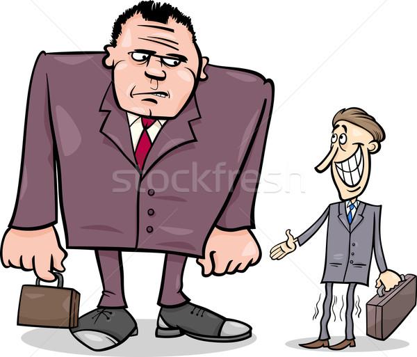 businessmen big and thin cartoon Stock photo © izakowski