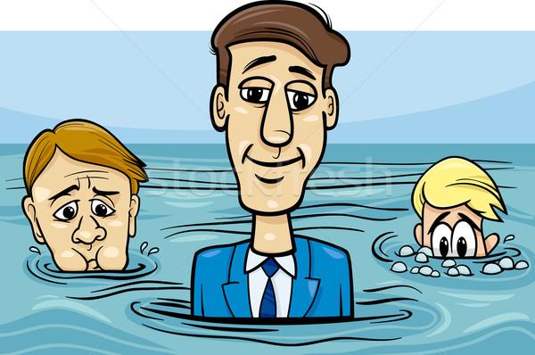 head above water saying cartoon Stock photo © izakowski