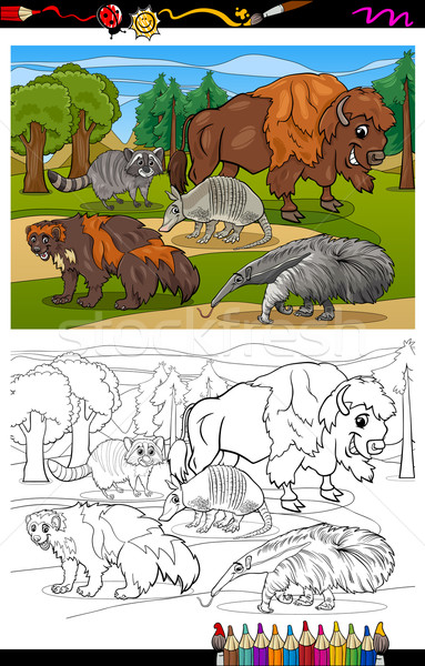 mammals animals cartoon coloring book Stock photo © izakowski