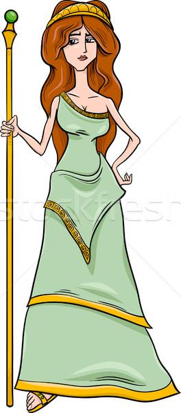 Grecki bogini cartoon ilustracja mitologiczny małżeństwa Zdjęcia stock © izakowski