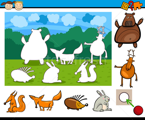 kindergarten cartoon game Stock photo © izakowski