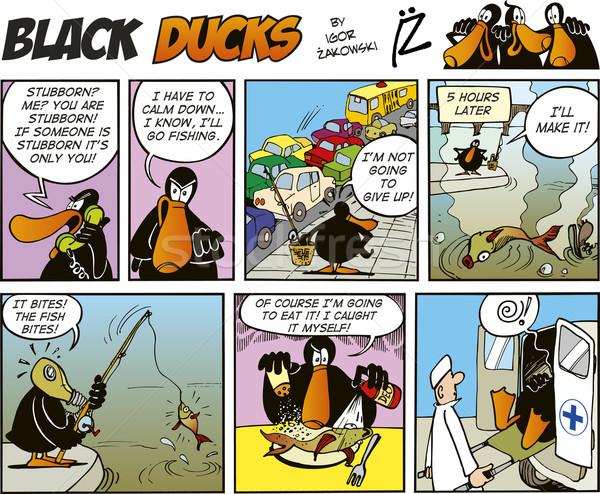 Black Ducks Comics episode 48 Stock photo © izakowski