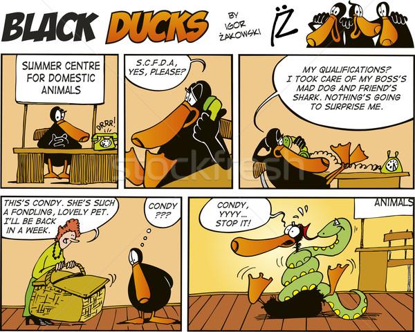 Black Ducks Comics episode 51 Stock photo © izakowski