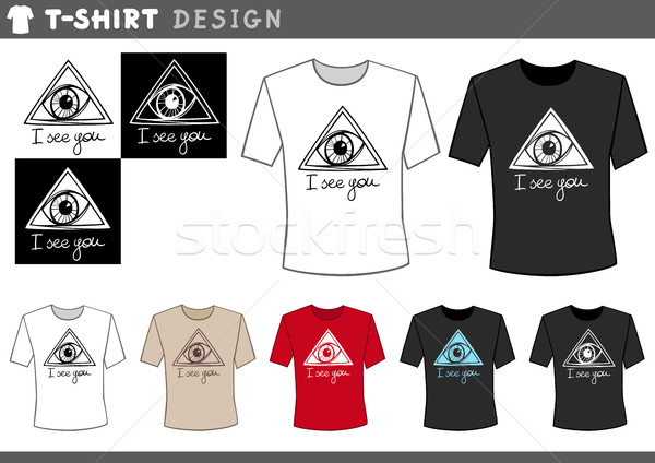 t shirt design with eye Stock photo © izakowski