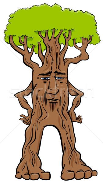 дерево тварь фантазий характер Cartoon иллюстрация Сток-фото © izakowski