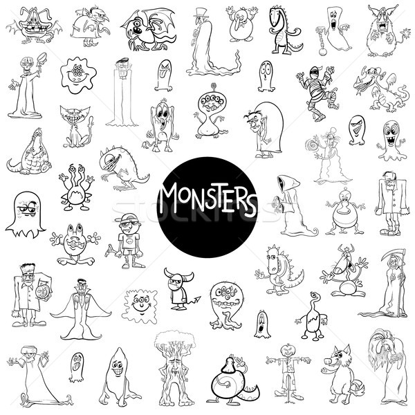 monster characters big set Stock photo © izakowski
