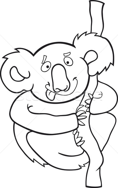 cartoon koala for coloring book Stock photo © izakowski