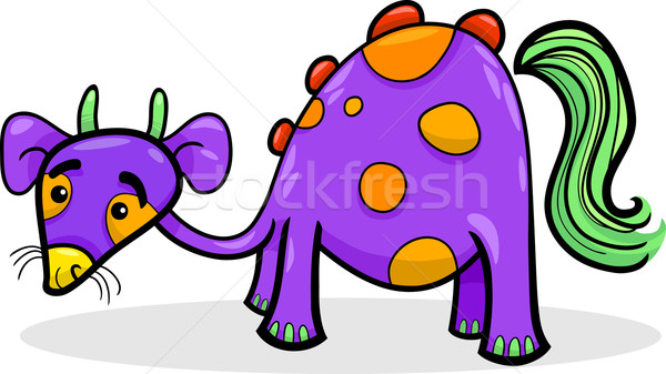 cartoon funny fantasy creature Stock photo © izakowski