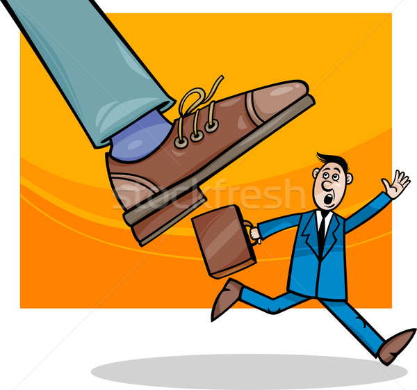 corporations and small business cartoon Stock photo © izakowski