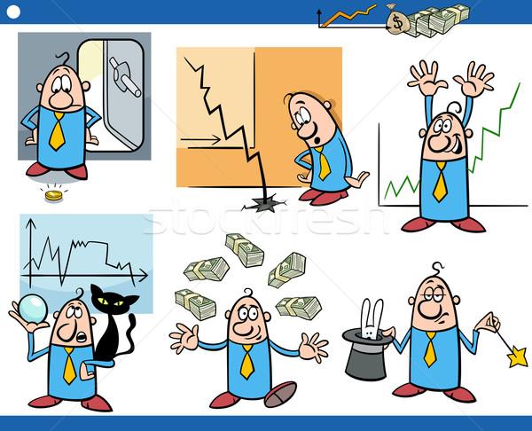 business cartoon concepts set Stock photo © izakowski