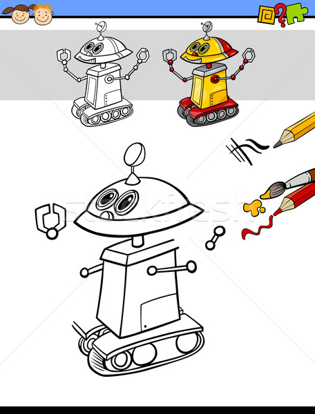 drawing and coloring task for kids Stock photo © izakowski