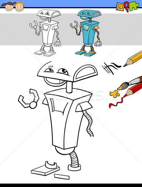 Desenho tarefa robô desenho animado ilustração Foto stock © izakowski