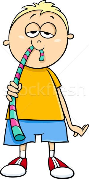 Jongen gelei snoep cartoon illustratie weinig Stockfoto © izakowski
