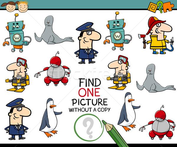 Stock foto: Vorschule · pädagogisch · Aufgabe · Karikatur · Illustration · finden