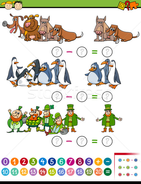 math task for preschool children Stock photo © izakowski
