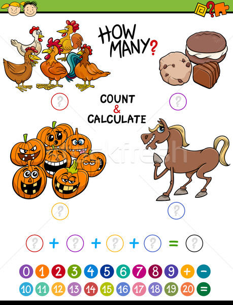 preschool math educational activity Stock photo © izakowski